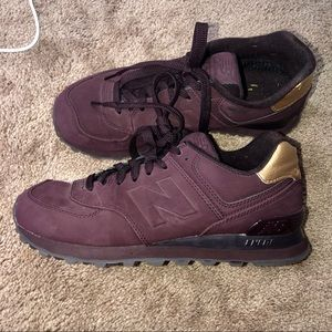Maroon & Gold New Balance Shoes